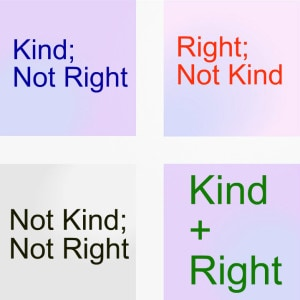 Kind or right quadrant