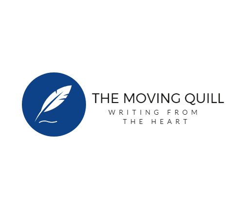 Writer holding the Moving Quill